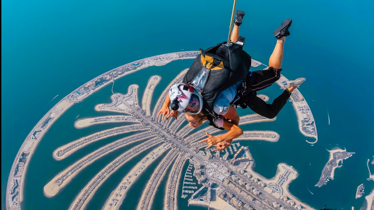 Skydive over the Palm Jumeirah, Dubai