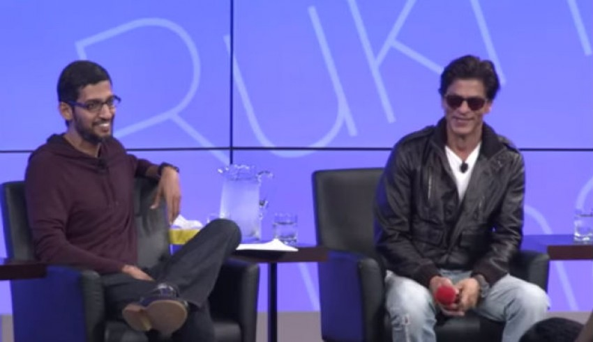 Shah Rukh Khan Sundar Pichai