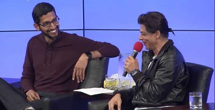 Shah Rukh Khan And Sundar Pichai